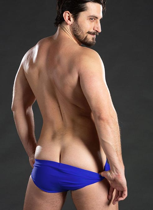 Mr. S Black Sand Swimming Brief Blue Extra large