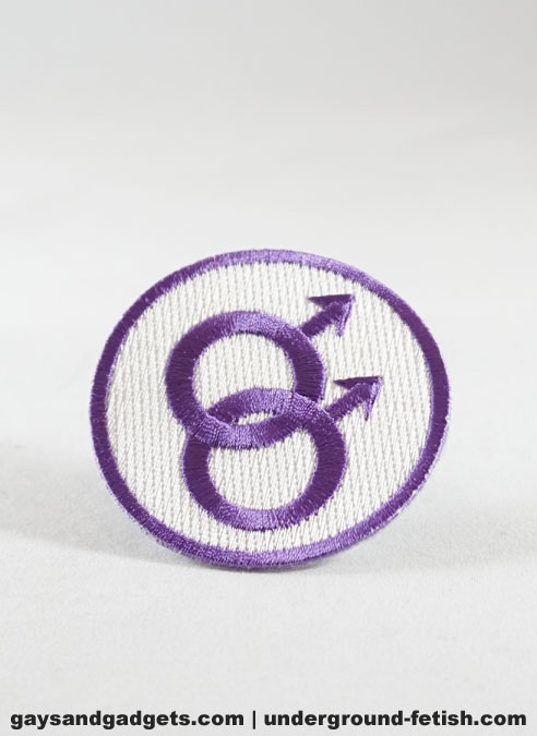 Sew on Double Male Sign Patch Purple