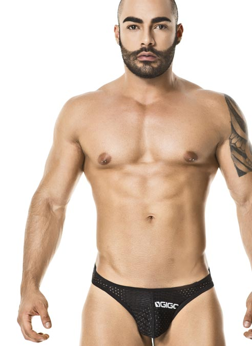 Gigo Thong Suggestive Black Small