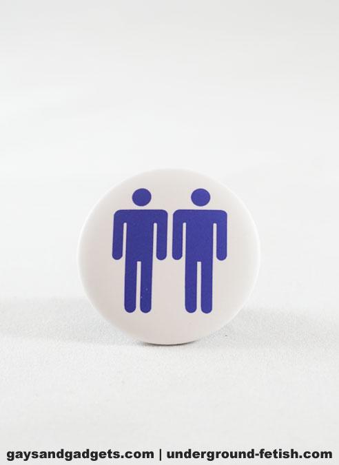 Button Two Men Blue