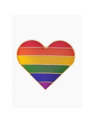 Pride Pin Rainbow Heart