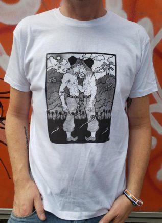 T-Shirt Farmers Kissing White Small