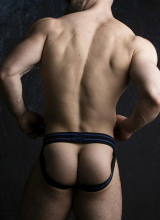 Locker Gear Jockstrap Front Opening Blue Medium