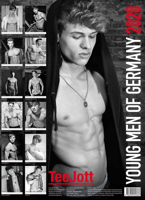 Calendar 2020 TeeJott Young Men of Germany