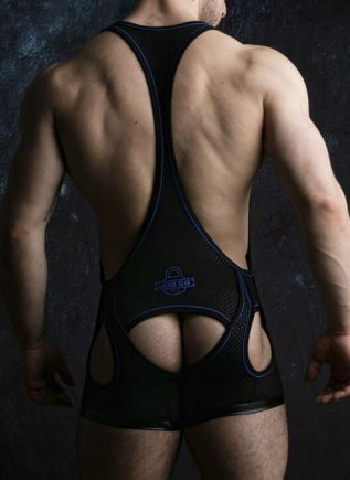 Locker Gear Backless Singlet Blue Medium