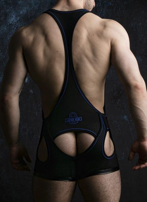 Locker Gear Backless Singlet Blue Medium
