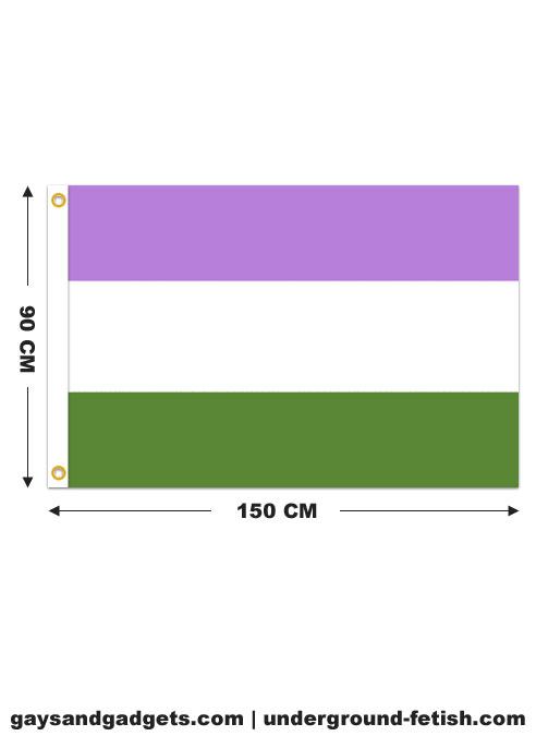 Flag Genderqueer Pride Printed 90 x 150 cm