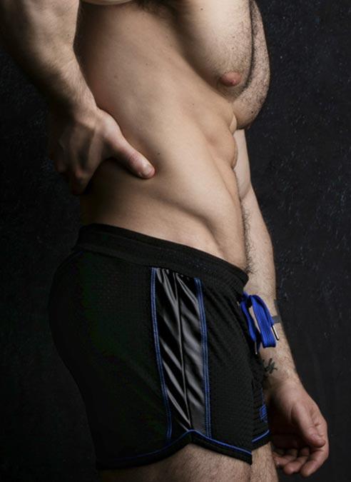Locker Gear Bottomless Shorts Blue Large