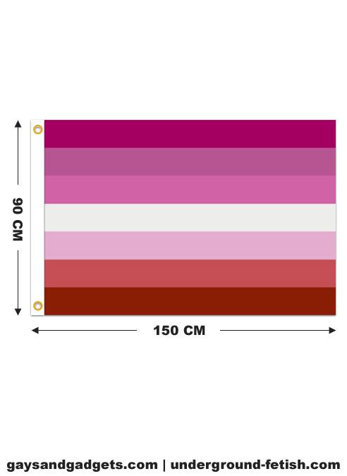 Flag Lesbian Pride Printed 90 x 150 cm