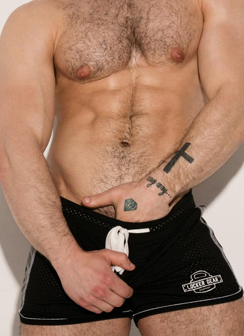 Locker Gear Bottomless Shorts White Small