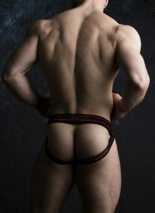 Locker Gear Jockstrap Front Opening Red Extra Large
