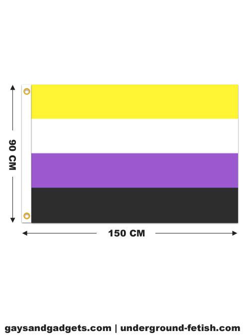 Flag Non-Binary Pride Printed 90 x 150 cm