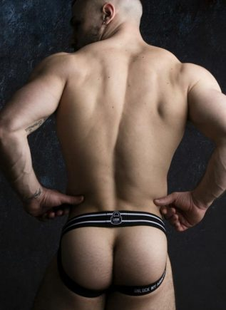 Locker Gear Jockstrap Front Opening White Medium