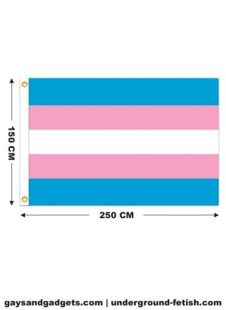 Transgender Flag Stitched 150 x 250 cm