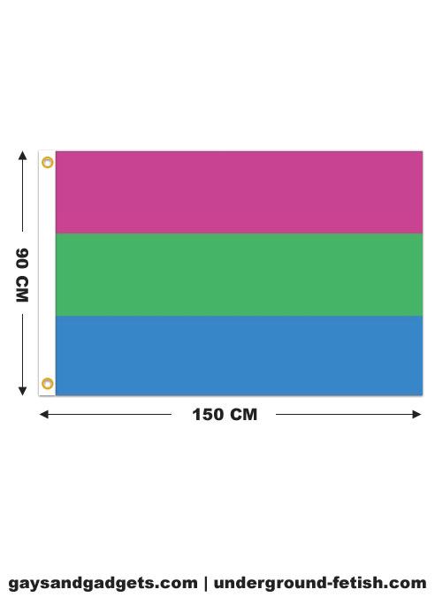 Flag Polysexual Pride Printed 90 x 150 cm