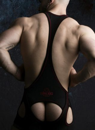 Locker Gear Backless Singlet Red Large