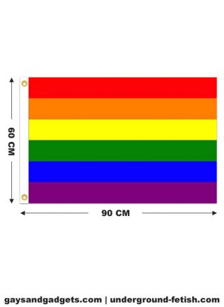 Rainbow Flag Printed 60 x 90 cm