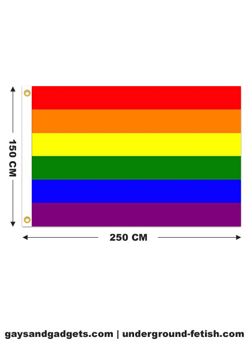 Rainbow Flag Printed 150 x 250 cm
