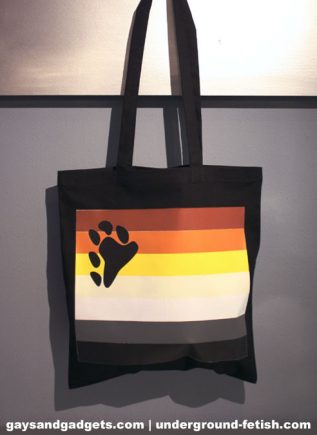 Bear Pride Canvas Tote Black 41 x 38 cm