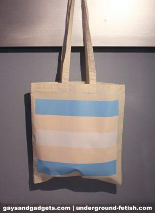 Trans Pride Canvas Tote White 41 x 38 cm