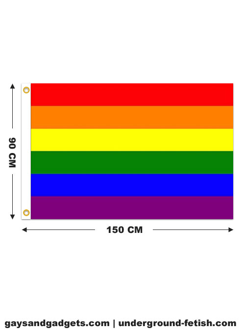 Rainbow Flag Printed 90 x 150 cm