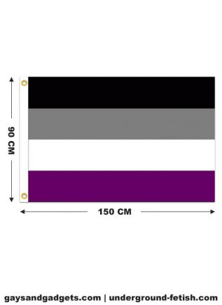 Flag Asexual Pride Printed 90 x 150 cm