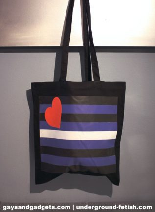 Leather Pride Canvas Tote Black 41 x 38 cm