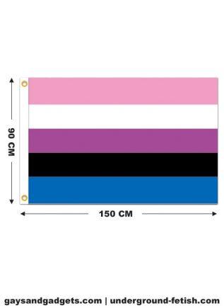 Flag Genderfluid Pride Printed 90 x 150 cm