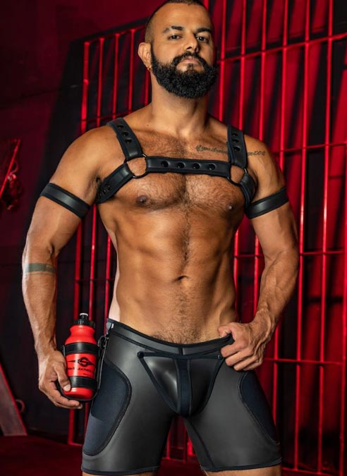 Mr. S Leather Sport Bottle Holster Black