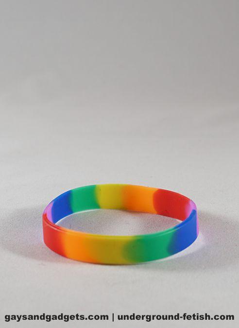 Rainbow Silicone Bracelet Pride Tie-Dye Small