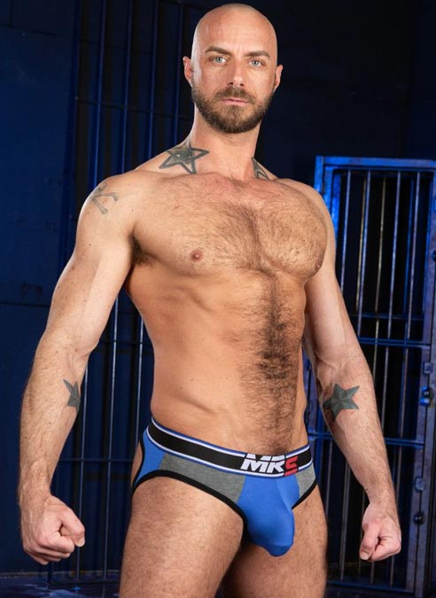 Mr. S Big Bulge Open Ass Brief Blue Extra large