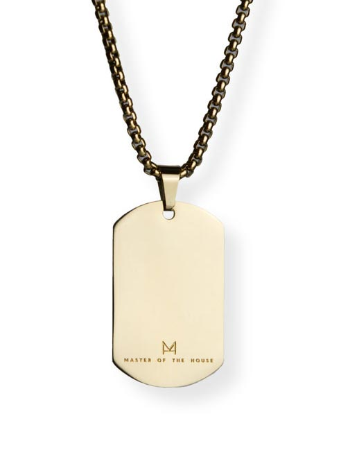 Master of the House Dog Tag Master Gold