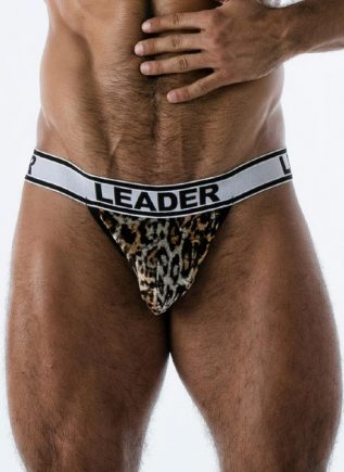 Leader Hunter Jockstrap Leopard Large