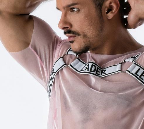 Leader Mesh Harness T-shirt Pink Large