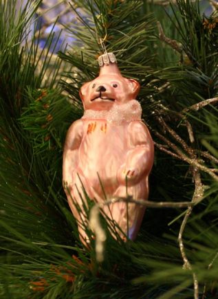 Haberland Pastel Pink Bear Christmas Ornament - 3