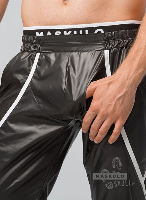 Maskulo Baggy Windbreaker Pants Large