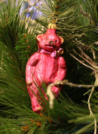 Haberland Pink Bear Christmas Ornament - 4