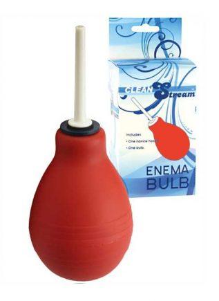 CleanStream Enema Bulb Red