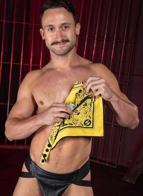 Mr. S Neck Hanky with Zipper Pocket Yellow