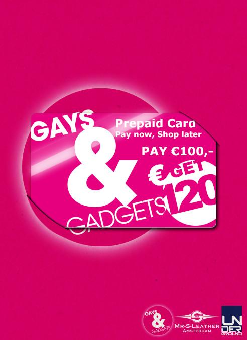 Gays&Gadgets Prepaid Card 100 euro