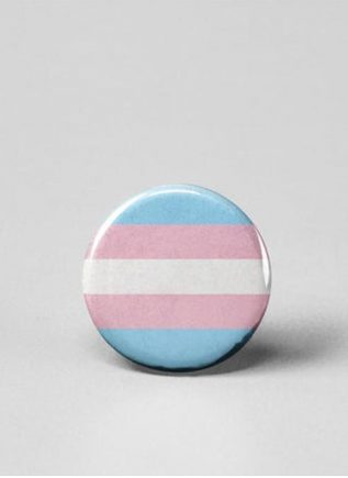 Button Small Transgender Flag