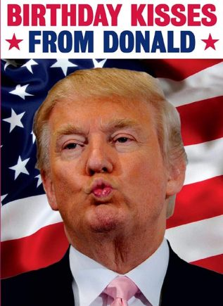 Dean Morris Card Birthday Kisses from Donald