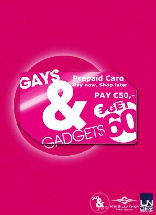 Gays&Gadgets Prepaid Card 50 euro