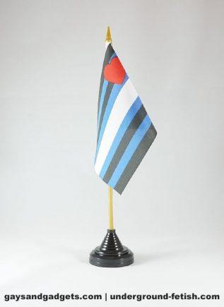 Desk Flag Leather Pride including Stand