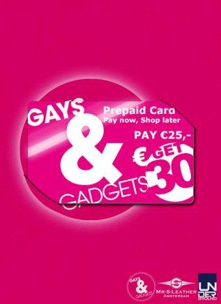 Gays&Gadgets Prepaid Card 25 euro