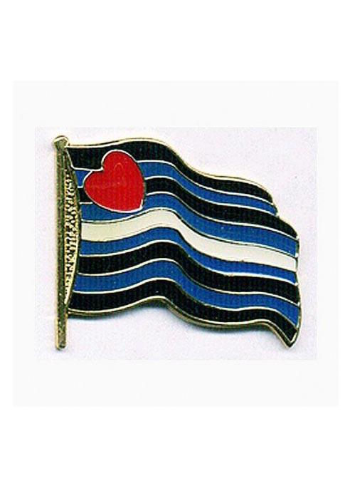 Pride Pin Wavy Leather Pride Flag