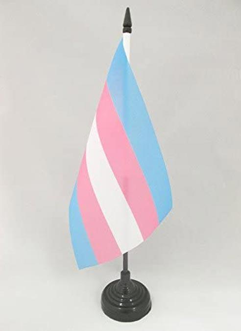 Desk Flag Transgender including Stand