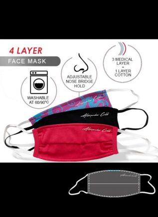 Alexander Cobb Facemask Print