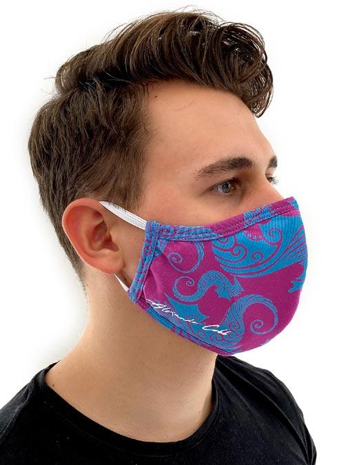 Alexander Cobb Shaped Facemask Print