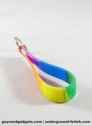 Amsterdam Silicone Rainbow Keyring